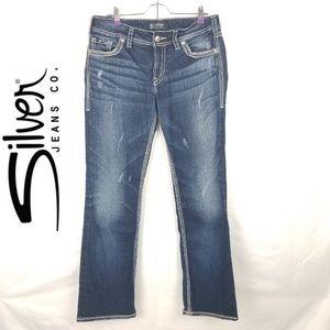 """Silver Jean's Suke 17"""" Boot Cut Sz 32"""